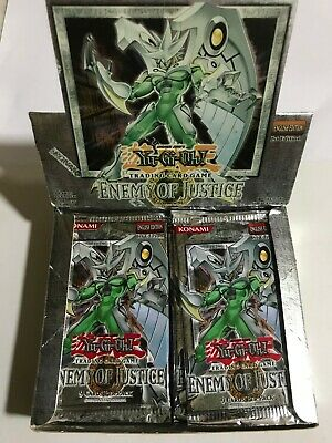 YuGiOh Konami TCG 2006 Enemy of Justice 1st Edition SEALED Booster Pack X1