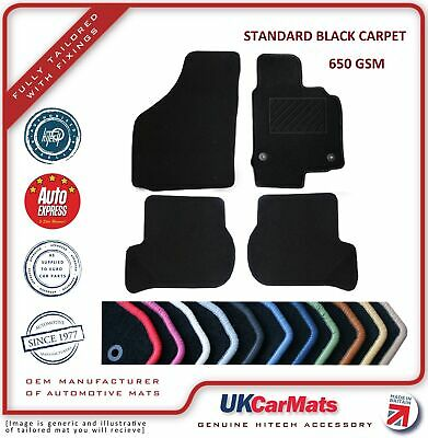 Kia Carens 2000-2006 Fully Tailored Deluxe Rubber Boot Mat in Black