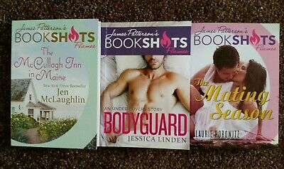 3 James Patterson's BOOKSHOTS Flames The McCullagh Inn in Maine, Bodyguard +