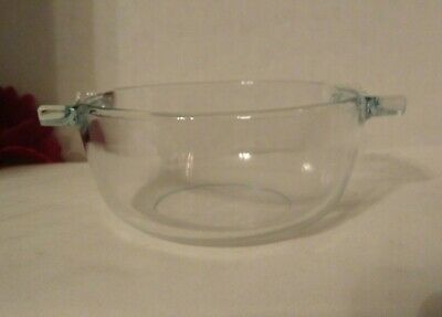 Pyrex Corning France #451 Clear Borosilicate Glass Casserole Serving Tabs No Lid