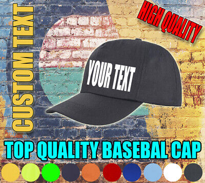 Custom Baseball Cap Personalised Customised Hat Text Photo Unisex Adults