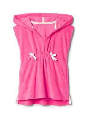 Gap Kids Toddler Girls Cozy Beach Cover Up Hoodie Pink #1950