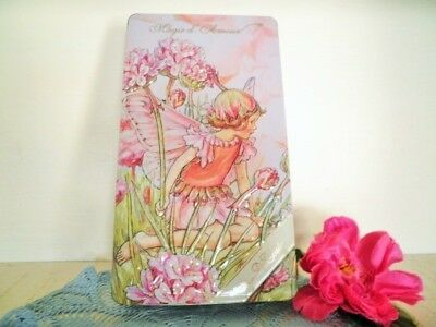 Flower Fairie Tin Cecely Mary Barker Magie D' Amour Fairy Tin Mauve Pink Biscuit