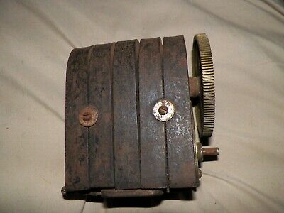 5 Bar Telephone Magneto Hand Crank Electric Generator Vintage Antique