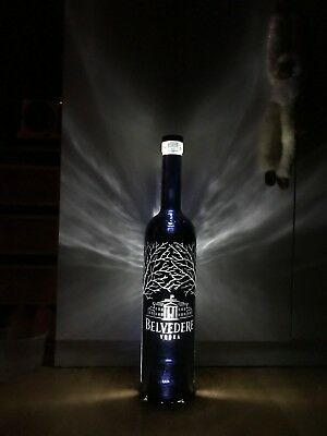 SUPER RARE Belvedere midnight saber luminous *3litre empty bottle*