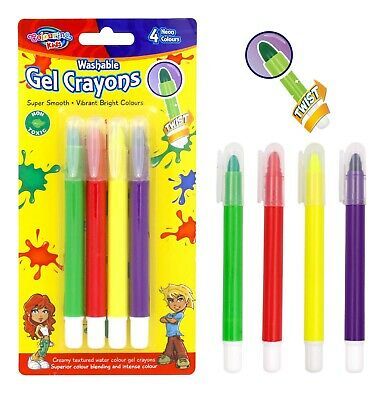 Non Toxic Kids Crayons Super Smooth Vibrant Bright Colours Washable Gel Crayons