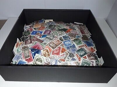 4,100 Used Foreign Stamps Lot Off Paper many countries from estate sales