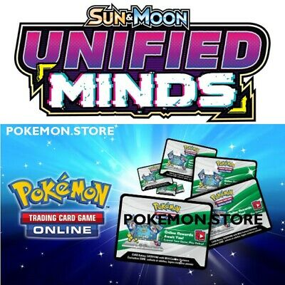 50 Unified Minds Codes Pokemon TCG Online Booster sent IN GAME / EMAILED FAST!