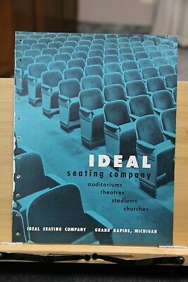 Brochure Ideal Seating Company Grand Rapids Michigan Vintage Theatre Seating