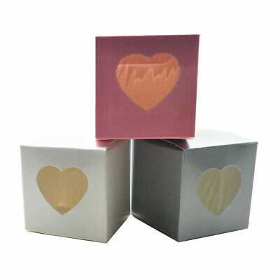 Kraft Paper with Window Heart Folded Box Wedding Party Gift Candy Snack Storage
