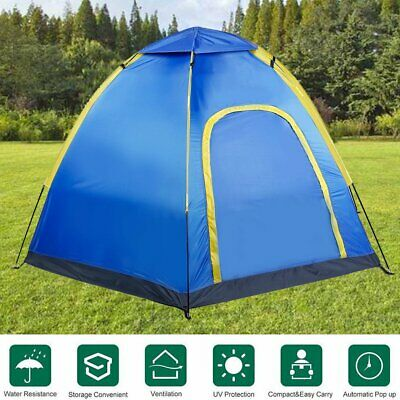 3-4 Person Waterproof Pop Up Tent Instant Automatic Hiking Camping Outdoor MY