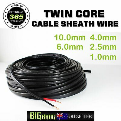 Twin Core Wire Battery Dual Sheath Cable 1mm TO 10mm 17AWG TO 7AWG Gauge Auto