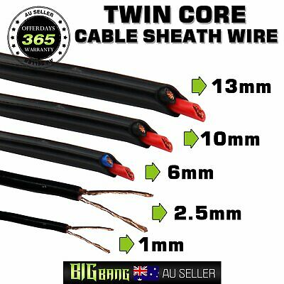 Auto Battery Twin Core Wire 1.0mm - 13mm 17AWG-6AWG Sheath Stranded Copper Cable