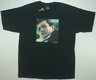 Rare VTG ZION Johnny Cash at Folsom Prison 2004 2 Sided T Shirt NWT Hot Topic L