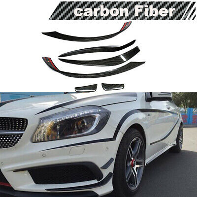 For Mercedes W176 A250 A45AMG Front Bumper Spoiler Canards Lips Splitters Carbon