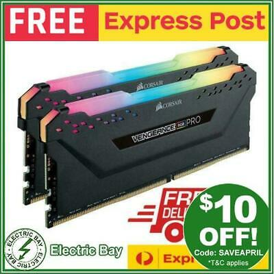 Corsair Vengeance RGB PRO 16GB (2x 8GB) DDR4 3200MHz C16 Gaming Memory Black