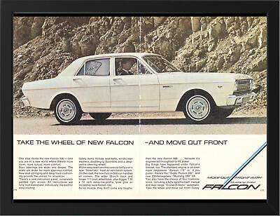 """1967 XR FORD FALCON 500 AD A3 FRAMED PHOTOGRAPHIC PRINT 15.7""""x11.8"""""""
