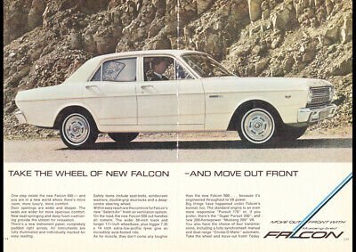 1967 Xr Ford Falcon 500 Ad Art Print Poster