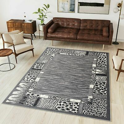 New Rug Modern Design Small Extra Large Soft Pile Traditional Pattern Grey