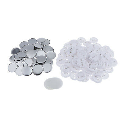 100 Sets 44mm Top/Bottom Cover Pin Button Parts for Badge Maker Machine