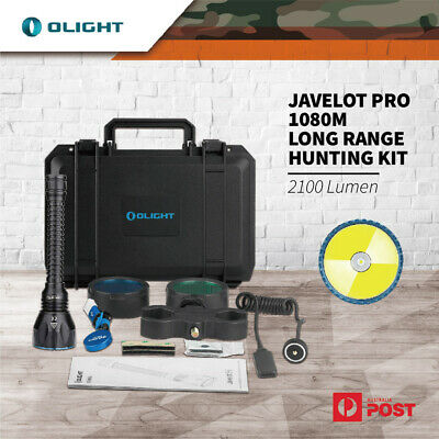 Olight Javelot Pro 2100 Lumen 1080m Long Shooting Torch Flashlight Hunting Kit