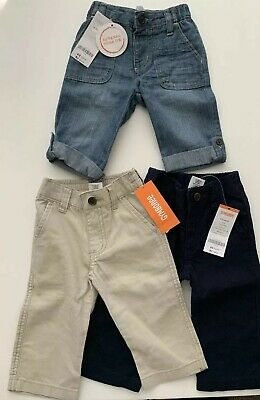 New Boys Size 6-12 Months Gymboree Jeans Linen Pants Lot 6-9 9-12