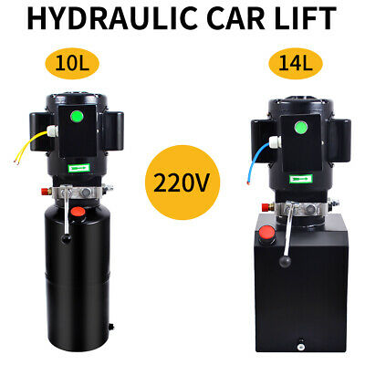 220V Hydraulic Trailer Pump Electric Single Single Acting Power Unit 10/14L