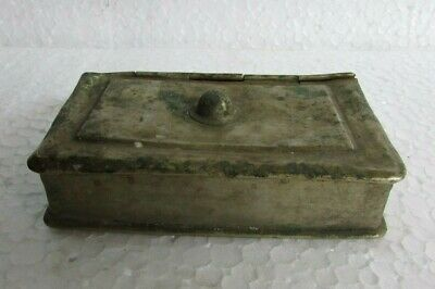 Vintage Metal Hand Crafted Book Shape Islamic Paan Betel Nut Box Collectible
