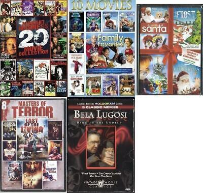 (9) Brand New Factory Sealed DVDs: Most Movie Combos: You Pick From (9) +BONUS!