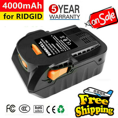 18V 4.0Ah Li-Ion Battery For Ridgid R840087 R840085 R840086 L1815R L1830R Tools
