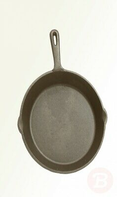 KitchenCraft Flat Round Induction-Safe Non Stick Cast Iron Griddle Pan, ...