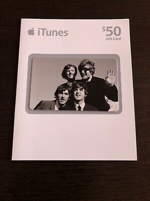 The Beatles itunes gift card NO MONEY UNACTIVATED unused unscratched Apple 2010