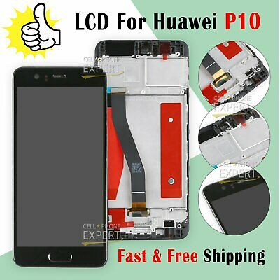 For Huawei P10 LCD Touch Screen Display Digitizer + Frame Full Replacement Black
