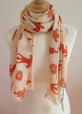 Womens Apricot Yoga  Scarf In Cotton By Juniper