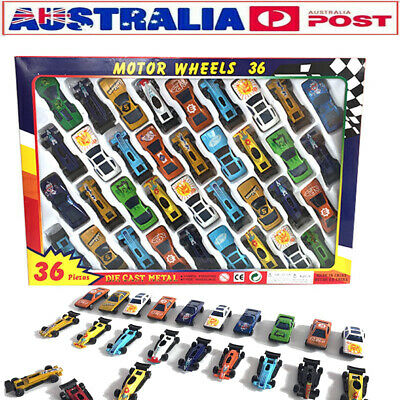 36pcs Assorted DieCast Cars Set F1 Racing Vehicle Play Toy Children Kids Gift AU