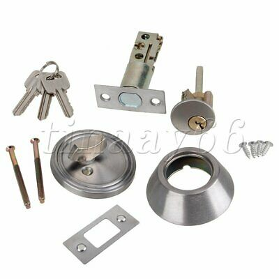 Chrome Brass Single Cylinder Deadbolt Dead Bolt Door Lock for All Doors with Key