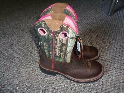 Ariat ATS Technology Childrens Multicolor Leather/Textile Boots Sz 6.5 NWT