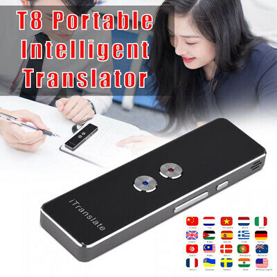 New Portable T8 30+ Language Real-time Intelligent Voice Device Smart Translator