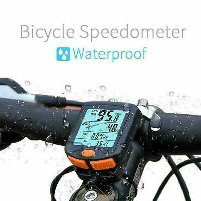 Wireless Bike Cycling Bicycle Cycle Computer Odometer Speedometer Hot Backl V3F9