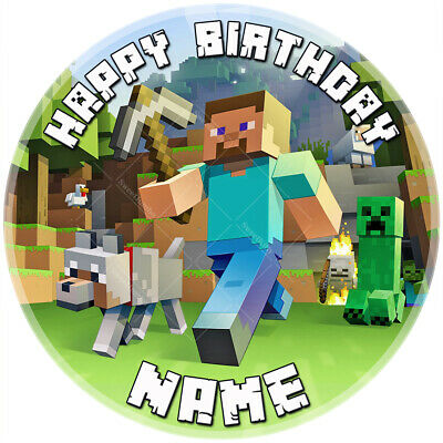 Cake Topper not an official Minecraft Cake Topper