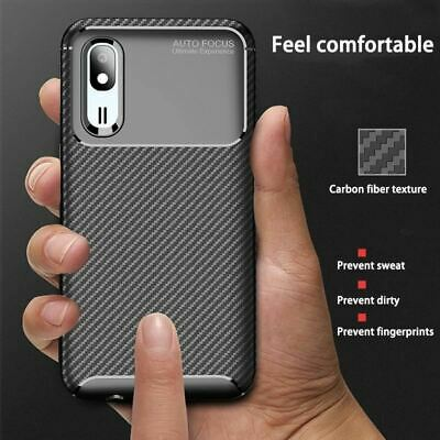 Phone Case for Samsung Galaxy A2 Core Case Cover Luxury Carbon Fiber Shockproof