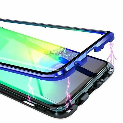 360 Full Body Front Back Curved Glass Magnetic Adsorption Metal Case for Samsung