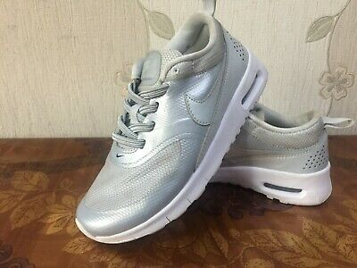 Girls Silver- white Nike Air max thea trainers size 12 kids