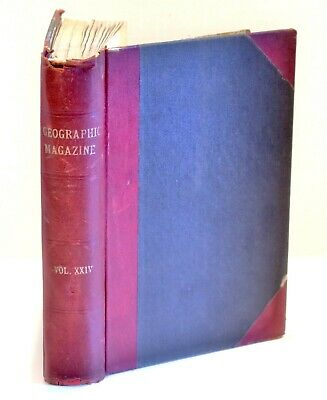 Vtg Book National Geographic Bound July-Dec 1913 Egypt Texas Philippines Italy