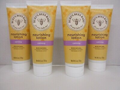 4 BURT'S BEES BABY NOURISHING LOTION CALMING - 6oz EACH - EXP: 12/20 - JK 1127
