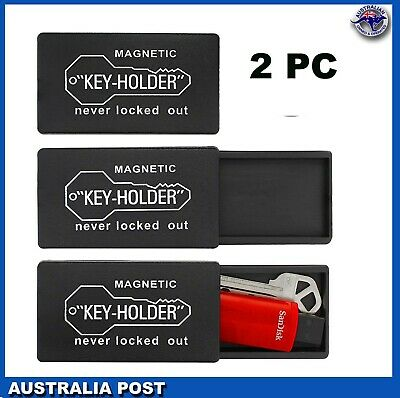 2 x Magnetic Hide A Key Holder Keys Holders Extra Case Storage Spare Container