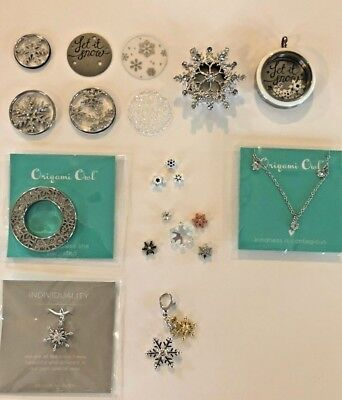 Origami Owl  New 2019 Snowflake Collection Christmas Holiday Winter Ship Free