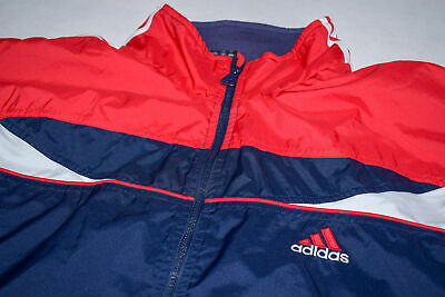Adidas Trainings Jacke Sport Shell Jacket Track Top Casual Style Shiny Vintage L