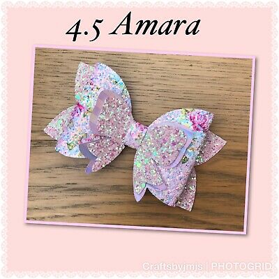 Plastic hair bow template Amara 4,5''