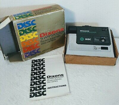 Dixons Sharpshooter Pocket Disc Camera with Box and Instructions